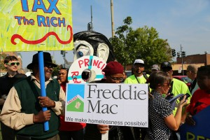 Homeowners protesting Freddie Mac at a protest on 9-27-2012, Washington, DC. Photo courtesy of Joe Oliverio