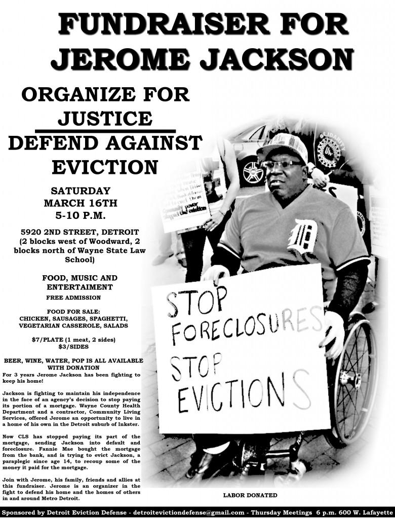 Jerome Jackson fundraiser flyer