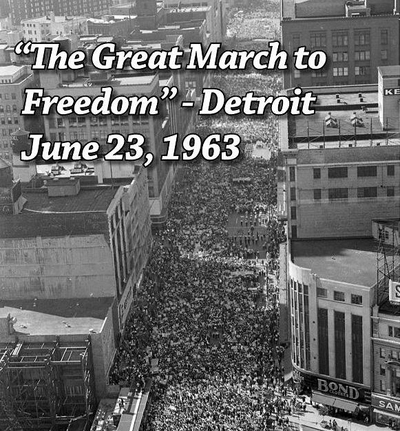 Great March to Freedom, Woodward Ave.,Detroit - June 23, 1963