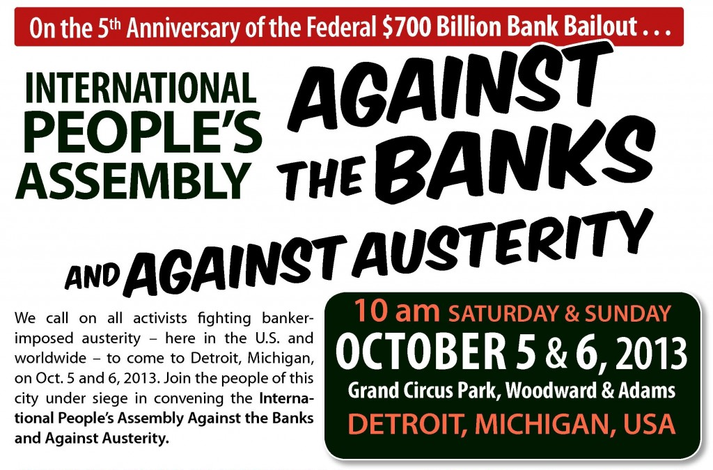 International People's Assembly in Detroit, Oct. 5 & 6