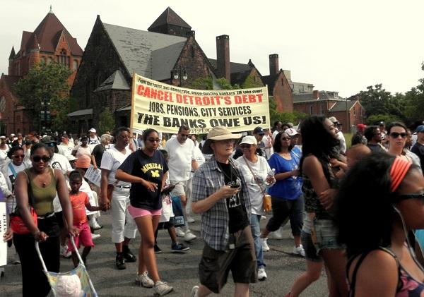 Cancel Detroit's Debt to the Banks banner