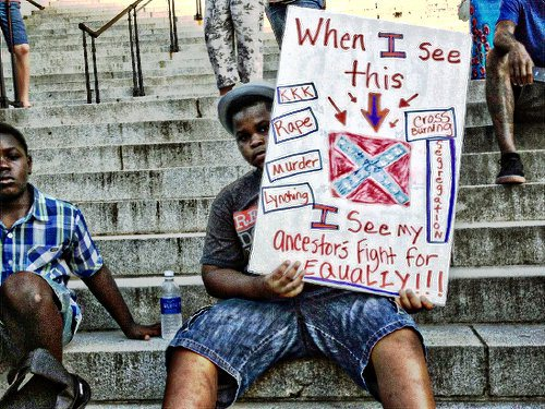 """""""Take Down the Flag"""" rally in Columbia, S.C. WW photo: Bill Starr"""