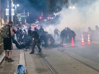 Detroit police attack demonstrators on Aug. 22, 2020